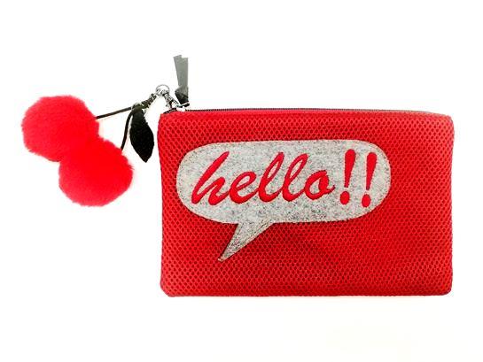 cartera roja hello