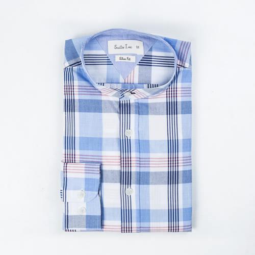 camisa cuadros azules suits inc