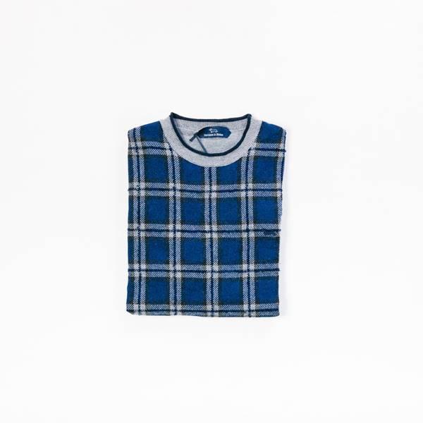 jersey de cuadros azules
