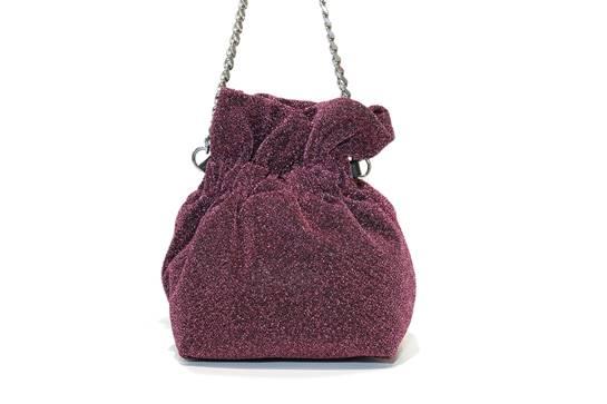 bolso saco purpurina