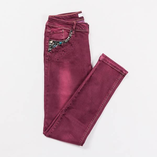pantalón burdeos