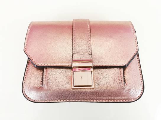 Bolso rosa metalizado
