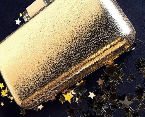 bolso dorado estrellas