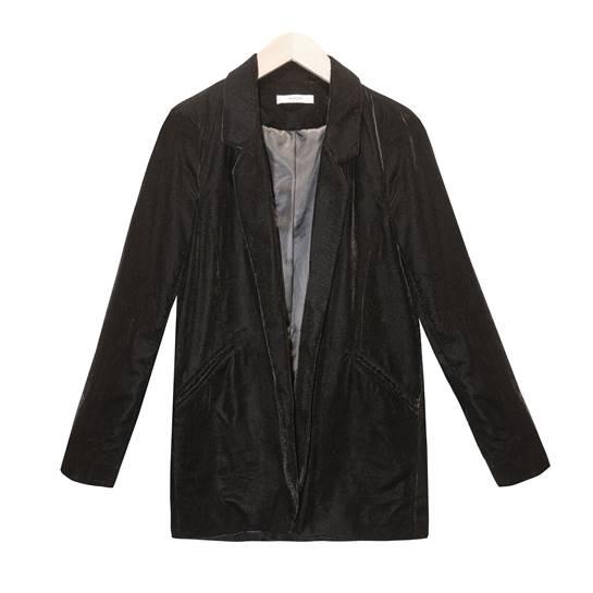 chaqueta terciopelo negro