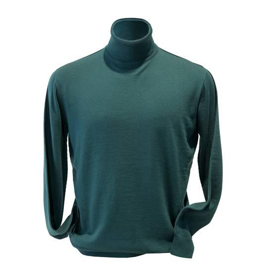 jersey cuello vuelto verde