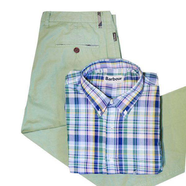 Camisa y pantalon verde de hombre BARBOUR