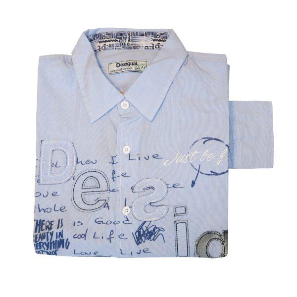 Camisa hombre azul claro DESIGUAL