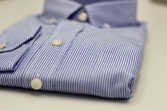 camisa rayas celeste gant