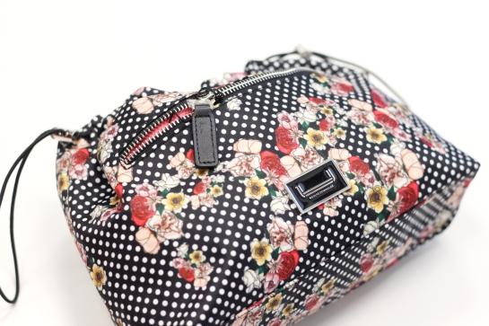 bolso lunares y flores