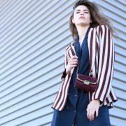 look traje chaqueta rayas