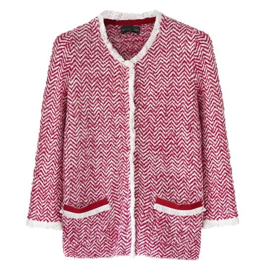 chaqueta rosa roberto verino