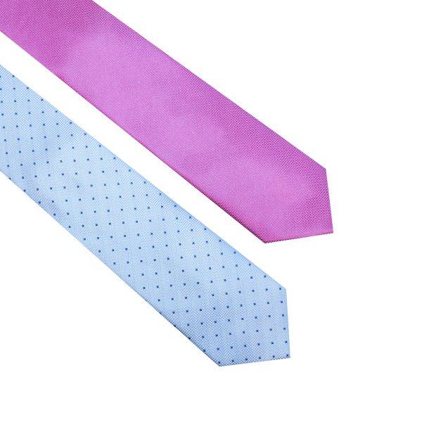 Corbata azul de lunares y corabata morada UNDERBLUE