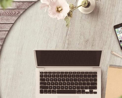 imagen recurso mac iphone libreta flores