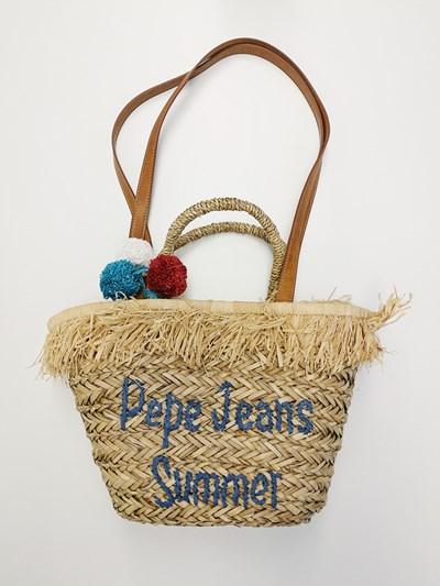 pepe jeans bolso rafia verano