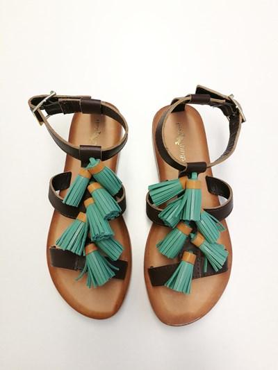 sandalias flecos verano