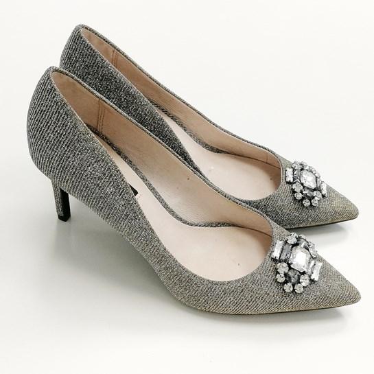 zapatos tacón glitter