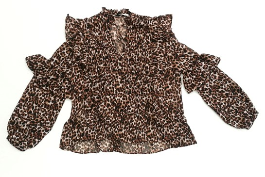 camisa estampado leopardo Mango