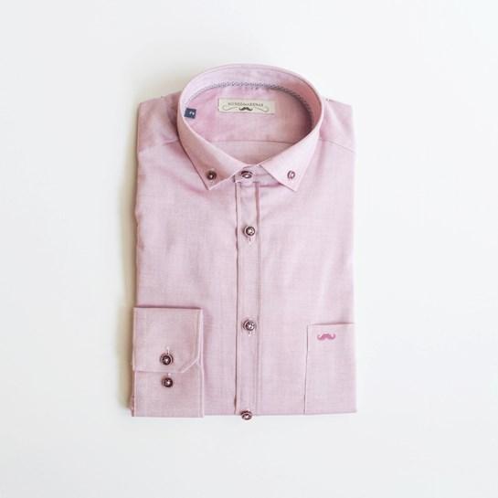 camisa rosa hombre