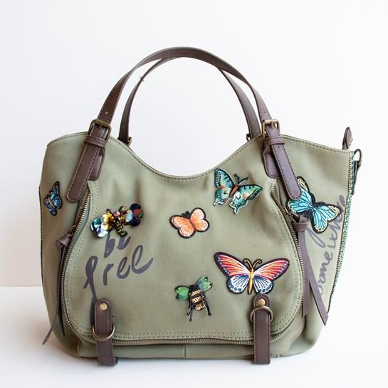bolso mariposa desigual