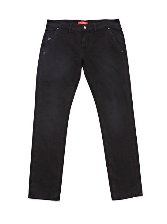 pantalón negro hombre guess