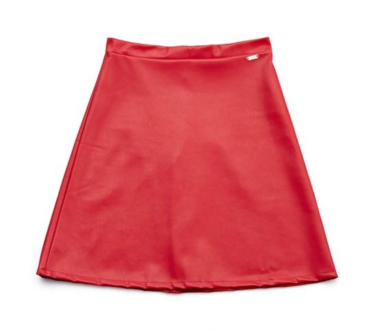 falda roja polipiel guess