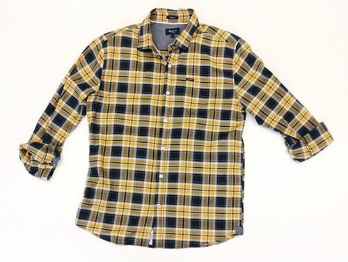 camisa amarilla a cuadros pepe-jeans