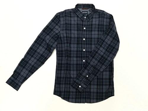 camisa gris cuadros dockers