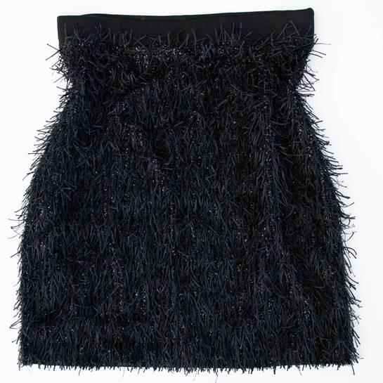 falda negra MANGO