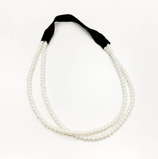 cinta perlas pelo