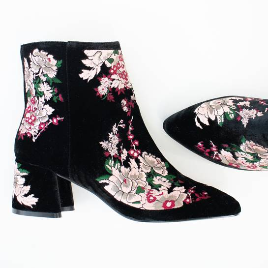 botines de flores Tempe