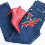 jeans bordados mango