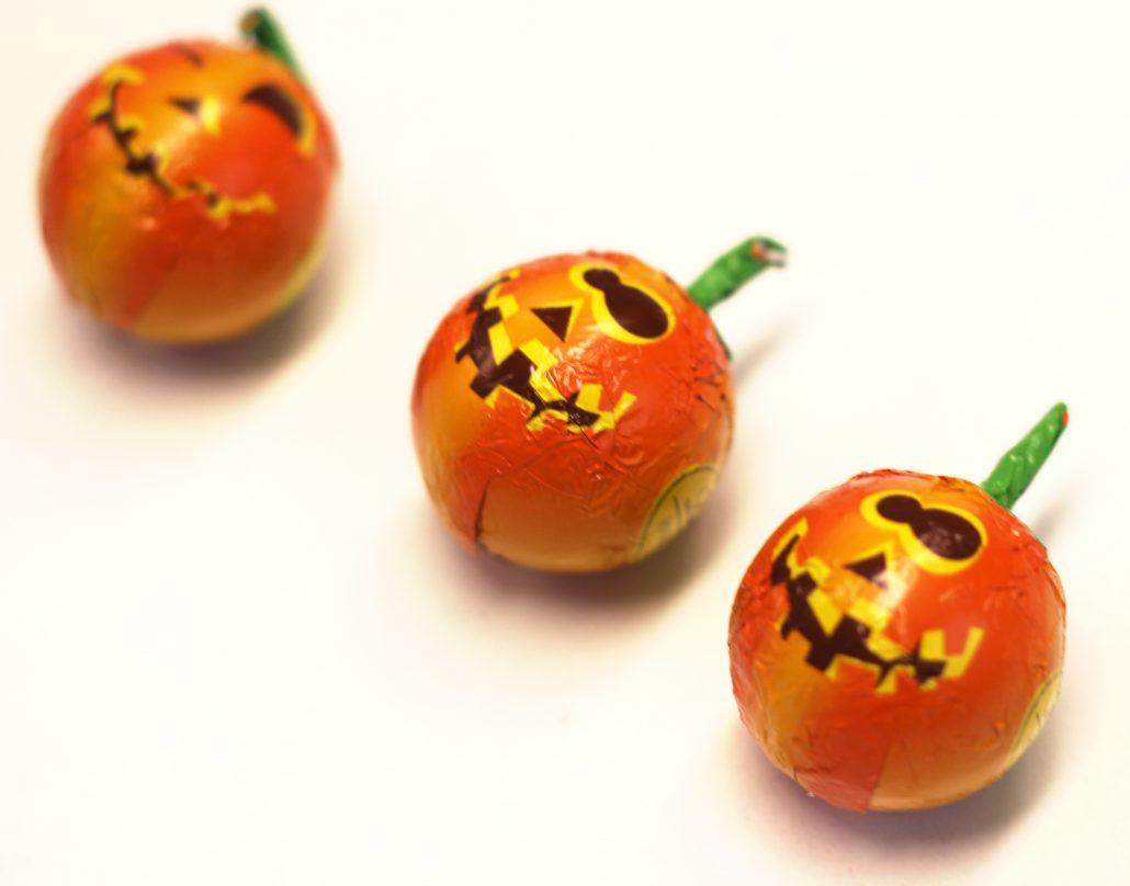 Dulces calabaza de Hallowen