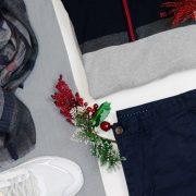 jersey pantalon azul marino y fular