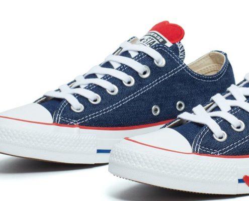 zapatillas de jean Converse San Valentín
