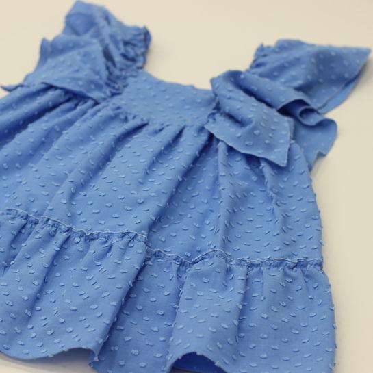 Vestido plumeti azul de Nanos