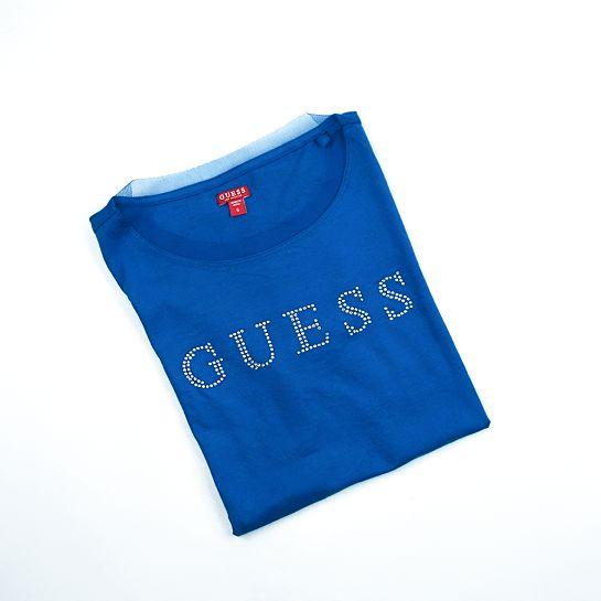 Camiseta azul de Guess