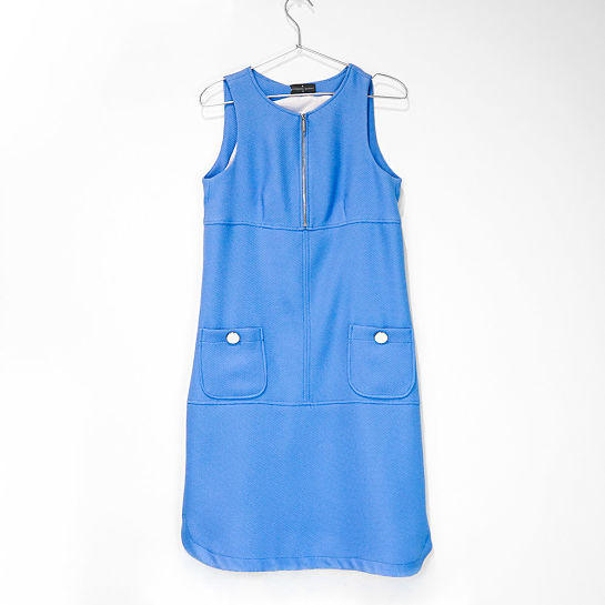 Vestido azul de Roberto Verino