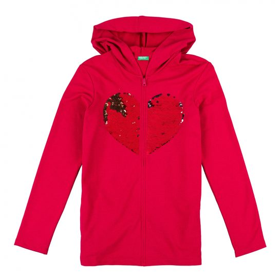 Sudadera corazon benetton