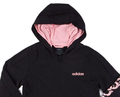 Sudadera negra y rosa de Adidas