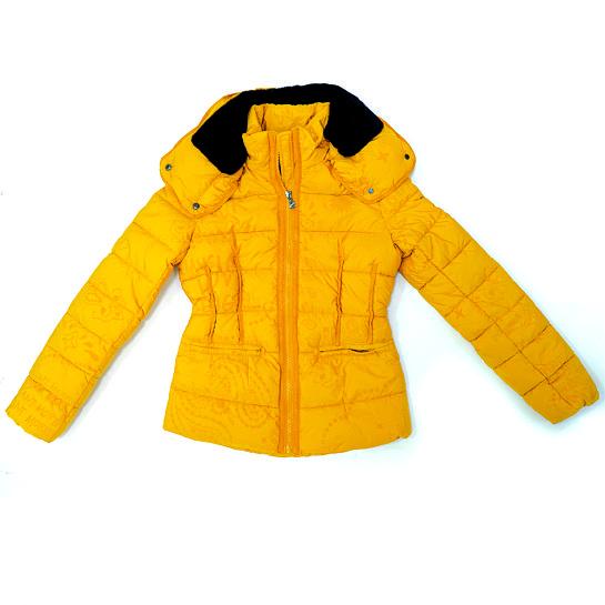 Plumifero amarillo de Desigual