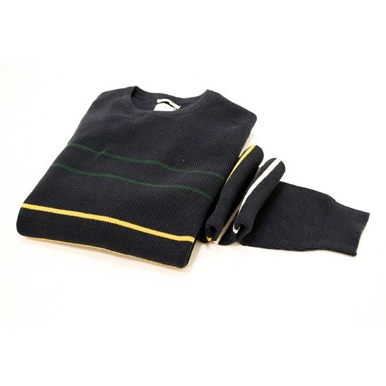 Jersey azul marino de rayas Fifty. Precio original 49,99€ Precio outlet 22,99€ Descuentos adicionales 12,99€