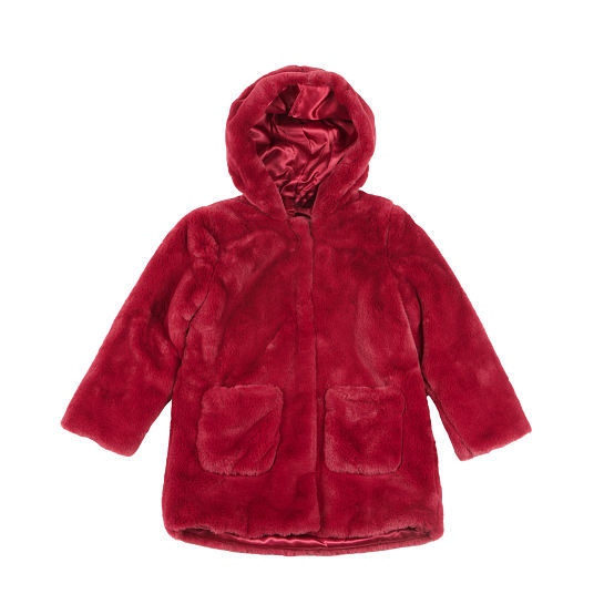 Abrigo de pelo rojo de IDO